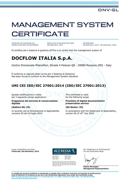 Certificazione 27001 Copia