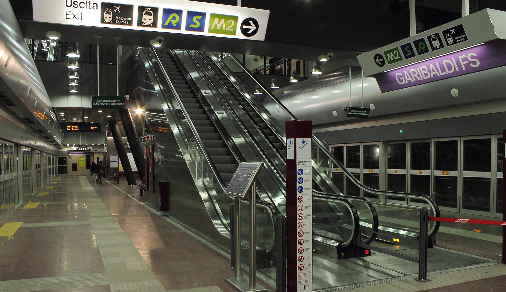 Linea 5 Lilla Metropolitana Di Milano Stazione Garibaldi